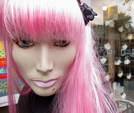 Pink Pubic Hair...on a Mannequin? - The Landing Strip